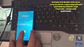 ZTE BLADE A452  2016 Bypass FRP REMOVE GOOGLE ACCOUNT 2016