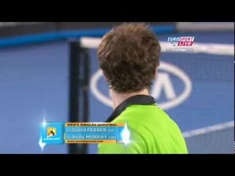 Australian Open 2011 Semifinal -  David Ferrer vs Andy Murray Set 3