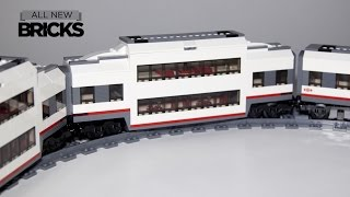 Lego City 60051 High Speed Custom Double Decker Passenger Train Car Speed Build