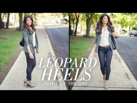 Leopard Heels Outfit of the Day