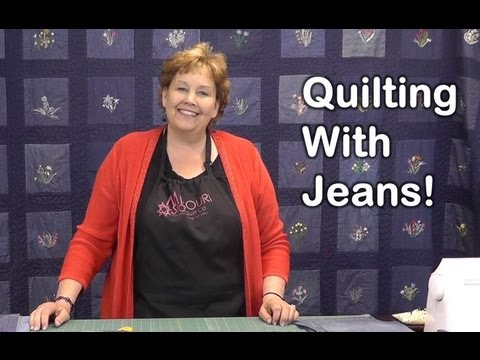 Quilt Using Old Jeans - Denim Quilting!