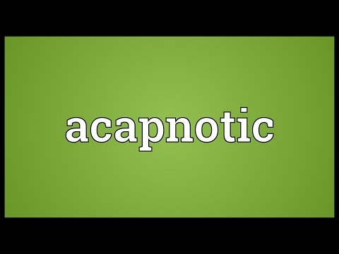 Header of acapnotic