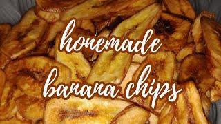 HOMEMADE BANANA CHIPS / EASY & CRUNCHY NA,  YUMMY & HEALTHY PA