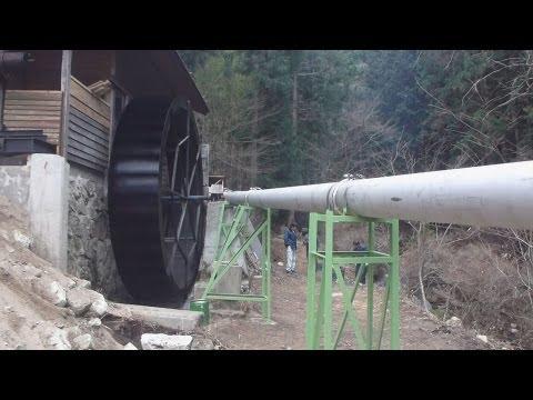 常陸太田市で小水力発電の試験運転