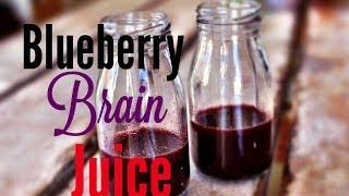 How to make Blueberry Brain Juice. The Blue Bayou
