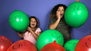 Making Slime With Giant Balloons! Giant Slime Balloon Tutorial - Christmas Edition