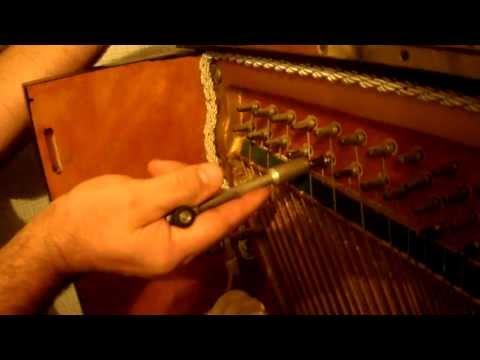 Loose tuning pins (piano) - Tightening. Part #3.Как закрепить колок пианино при помощи картона. на tubethe.com
