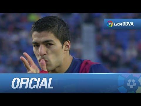 Gol de Suárez (2-0), el primero en Liga BBVA, en el FC Barcelona - Córdoba CF - HD