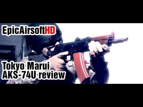 Airsoft gun review TOKYO MARUI AKS-74U Kalashnikov with RECOIL system - EpicAirsoftHD - Episode 6