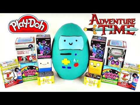 Huge Adventure Time Blind Box Play Doh Surprise Egg - Hello Kitty Sonic My Little Pony Disney Toys video