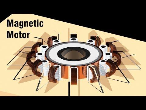 Free Energy Generator - Magnetic Motor with magnetic bearings thumbnail