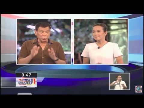Poe, Duterte face off on women's rights