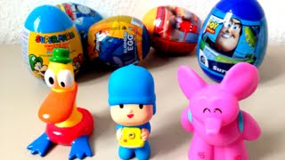 pocoyo and 5 surprise eggs unboxing