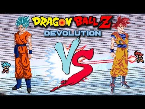 Ssj god goku vs ssjgssj goku in dragon ball z devolution music https