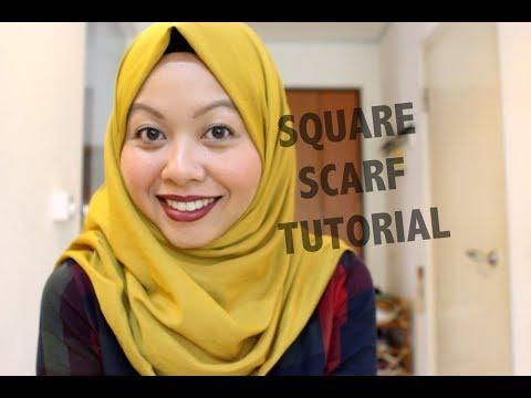 SQUARE HIJAB TUTORIAL - YouTube Jaslina Yassin