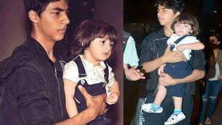 Shahrukh Khan Son Aryan Holding Baby Brother Abram In His Arms