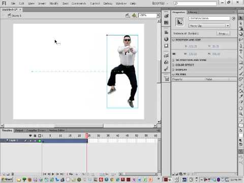 Flash CS6 Tutorials for Beginners Basic Motion Tween