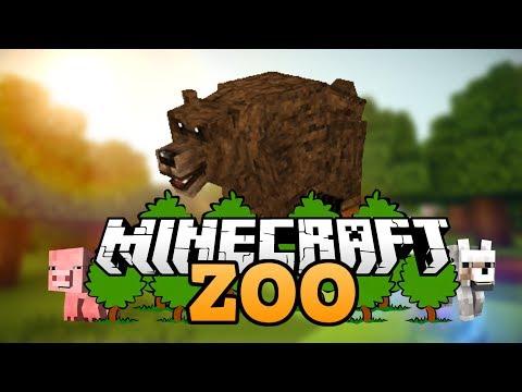 Bärengehege | Wie baut man einen Zoo in Minecraft deutsch | Minecraft Zoo bauen deutsch