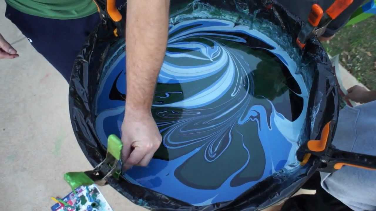 Swirl Painting A Jackson Guitar With Borax Method And