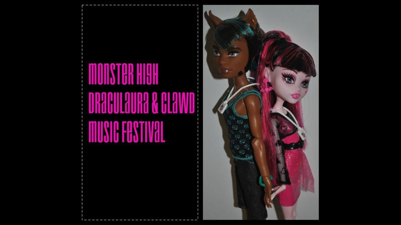 Draculaura y Clawd Music Festival Clawd Wolf Music Festival
