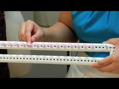 Knit fun loom video demo how to make do everything for Martha stewart crafts knit weave loom kit