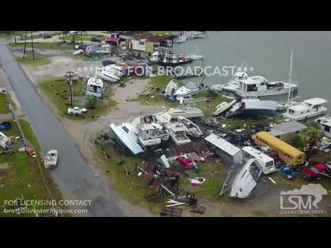 08-26-2018 Rockport, Texas - Hurricane Harvey aerial imagery destruction