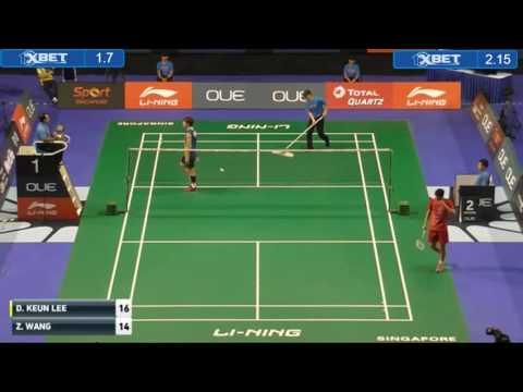 2016 Singapore Open SS   MS R16   Lee Dong Keun vs Wang Zhengming