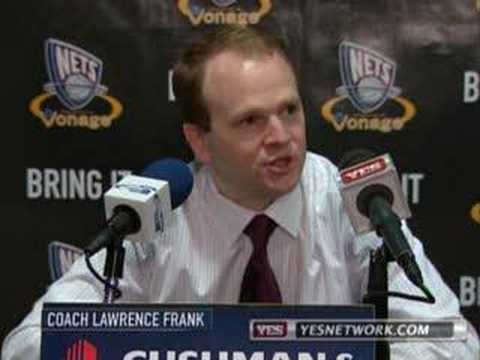 New Jersey Nets Lawrence Frank postgame interview, 2/27/07