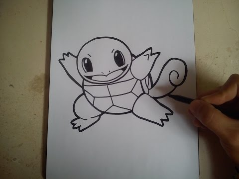COMO DIBUJAR A SQUIRTLE - POKEMON / how to draw squirtle - pokemon go
