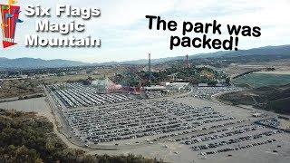 MASSIVE Crowds at Six Flags Magic Mountain!