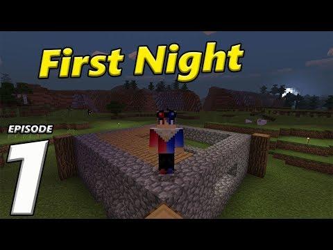 Episode 1 First Night | Minecraft PE Survival