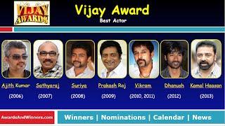 Vijay Awards - Best Actor (2006-2013)