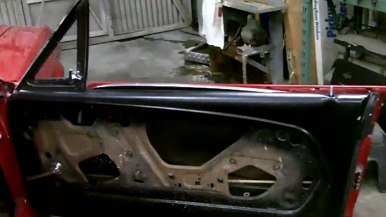 One piece window conversion ford for 1965 mustang window adjustment
