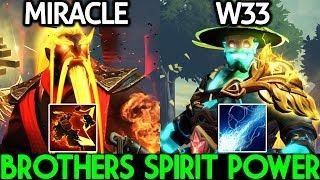 Miracle- Ember Spirit ft W33 Storm Spirit Imba Brothers Spirit Power 7.22 Dota 2