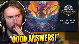 """Asmongold Reacts To """"Rise of Azshara Dev Insights w/ Ion Hazzikostas"""""""