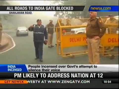 Delhi gangrape: 9 metro stations to reach India Gate closed - NewsX