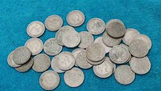 Sorting Non Decimal British Coins from an old Fruit Machine.