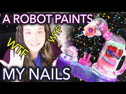 A Robot Paints my Nails because technology