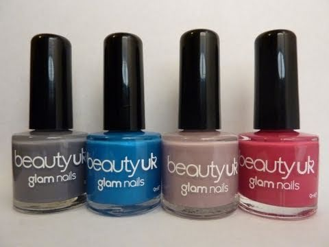 BeautyUK Glam Nails Nail Polish Review Oct 2010 Beauty Uk Cosmetics HD Video