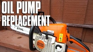 Oil Pump Replacement On A Stihl MS250/MS230 Chainsaw