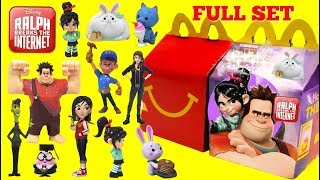 RALPH BREAKS THE INTERNET Movie 2018 McDonalds Happy Meal Toys Full Set