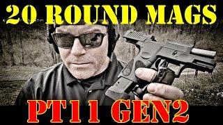 Taurus PT111 Gen 2 Magazine Compatibility Test! 20 Round Mags!!!