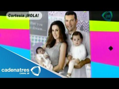 Jacqueline Bracamontes y Martín Fuentes presentan a su hija