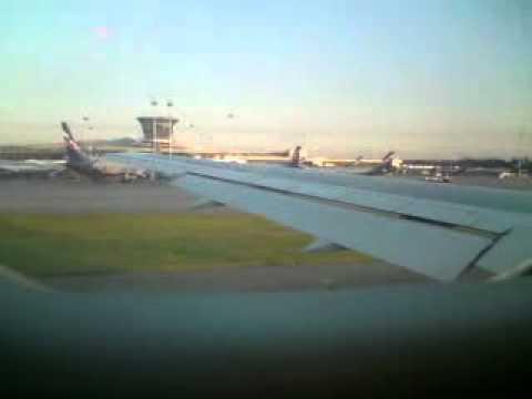Видео как взлетает самолет