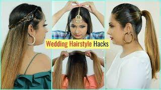 6 LIFE Saving WEDDING Hairstyles HACKS You MUST Try .. | #Tricks #Bridal #Haircare #ShrutiArjunAnand