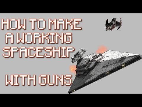 Minecraft Xbox 360: TU9 - Fully Functional Space Ship with Weapons (Fire Charge & TNT Cannons)