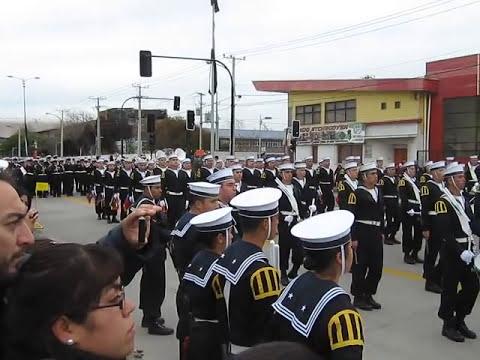 Glorias prusianas, Penachos Rojos - Desfile 21 de mayo 2011 Talcahuano