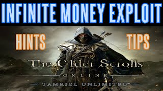 Elder Scrolls Online - Infinite Money Exploit Tips Hints - Unlimited Gold - (PS4 Xbox PC)