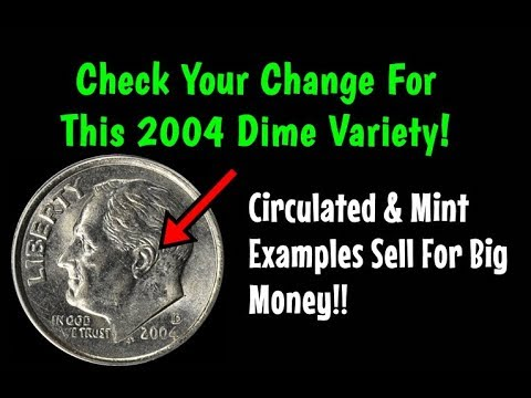 HUGE 2004 Roosevelt Dime Variety You Can Find In Pocket Change! - Valuable In All Grades!