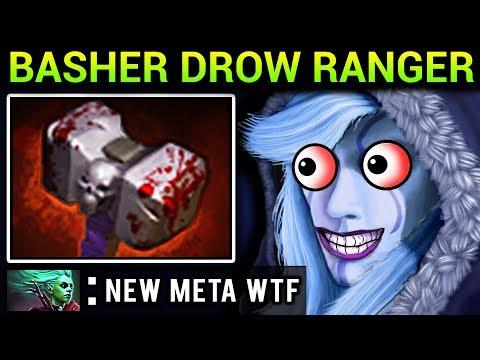 BASHER DROW RANGER - DOTA 2 PATCH 7.07 NEW META PRO GAMEPLAY